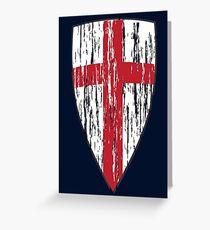 Crusader Knights Templar Cross Greeting Card