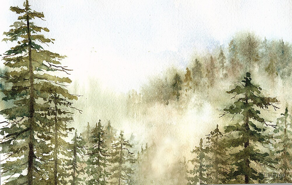 Fog in the Trees by LinFrye