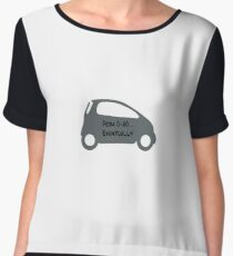 Smart Car ForTwo Grey Colour - From 0-60...Eventually Women's Chiffon Top