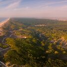 Aerial view of secondary sand dunes at sunset by homydesign