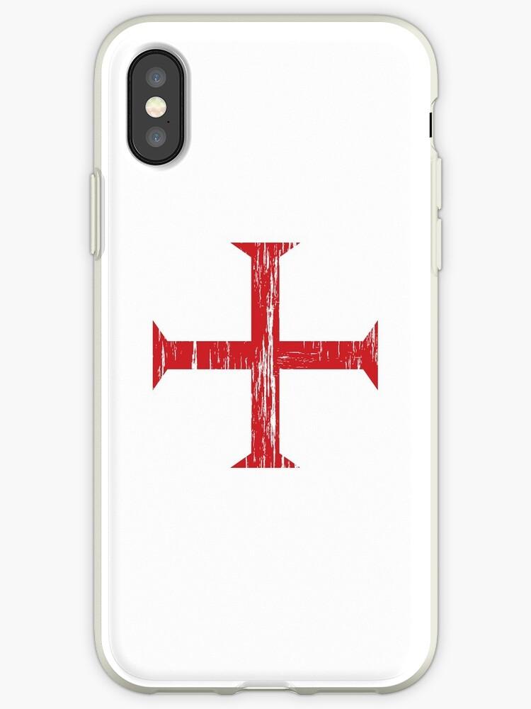 'Knights Templar Crusader Cross' iPhone Case by quark