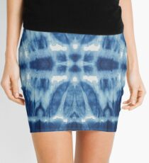 Tie-Dye Blues Twos Mini Skirt
