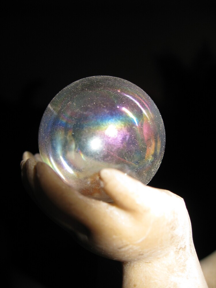 HAND WITH BUBBLE by pammie13