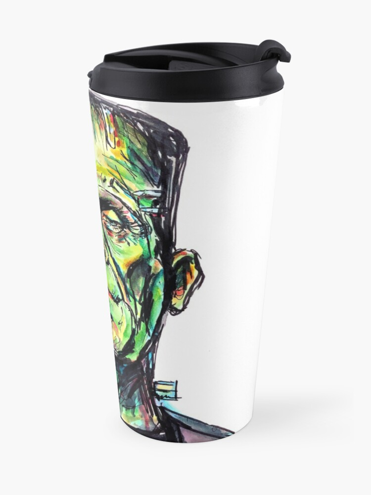 Alternate view of Frankenstein - White Travel Mug