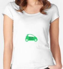 Smart Car ForTwo Green Colour - From 0-60...Eventually Women's Fitted Scoop T-Shirt