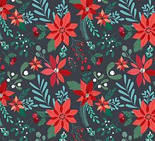 Poinsettia Pattern by meghanmarie