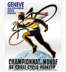CYCLOCROSS: Vintage Bicycle Racing Advertising Print Poster