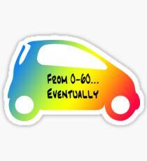 Smart Car ForTwo Multicolour 5 - From 0-60...Eventually Sticker
