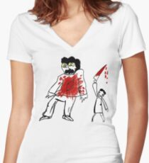THE PROFONDO ROSSO Women's Fitted V-Neck T-Shirt