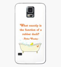 What exactly is the function of a rubber duck? Case/Skin for Samsung Galaxy