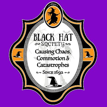Witches Black Hat Society Member Funny Witches Hat Society, Funny Halloween Design by gallerytees