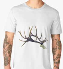 Bull elk skull European mount Men's Premium T-Shirt