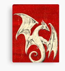 White Dragon Canvas Print
