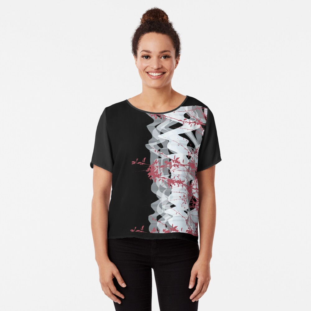Untitled Women's Chiffon Top Front