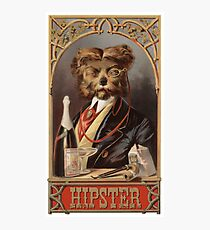 Hipster Dog Photographic Print
