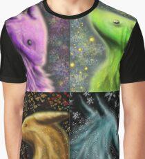 Four Seasons Dragons Graphic T-Shirt