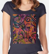 Wildfire Cats Women's Fitted Scoop T-Shirt