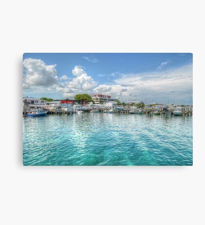 Marina in Nassau, The Bahamas Canvas Print