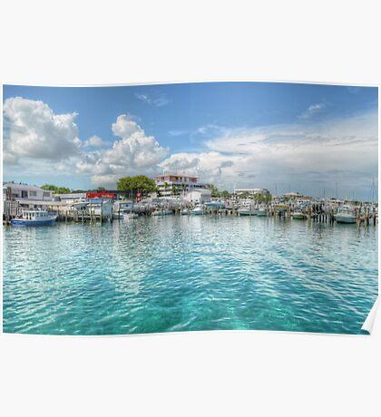 Marina in Nassau, The Bahamas Poster