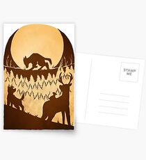 Full Moon in the Forest Postcards
