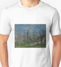 Orchard in Spring, By by Alfred Sisley Unisex T-Shirt