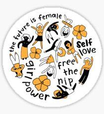 Feministischer Kreis (orange) Sticker