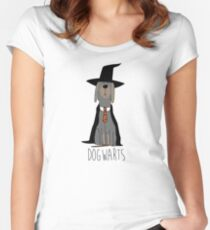 potter dogs dogwarts Women's Fitted Scoop T-Shirt