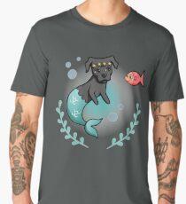 Mermaid Pit Bull  Men's Premium T-Shirt