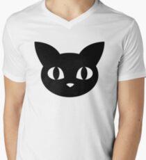 Cute Cat Graphic  Men's V-Neck T-Shirt