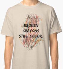 Camiseta clásica Crayones rotos