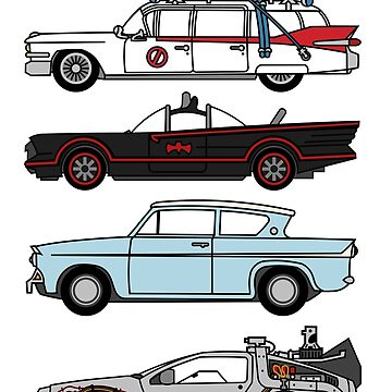 Iconic movie cars by WiseYaks