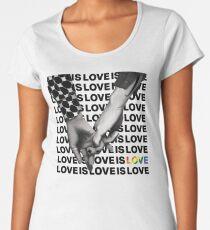 LOVE IS LOVE Women's Premium T-Shirt