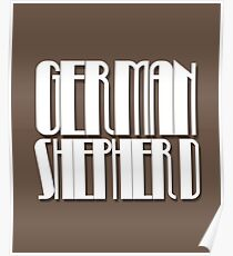 German Shepherd Retro Typography Design  Poster