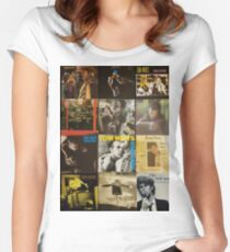 Tom Waits Discography collage Women's Fitted Scoop T-Shirt