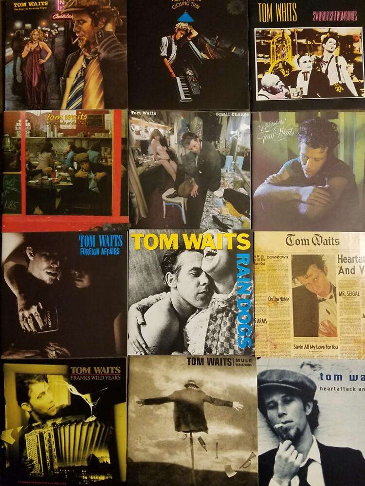 Tom Waits Discographie-Collage von Oclibertine