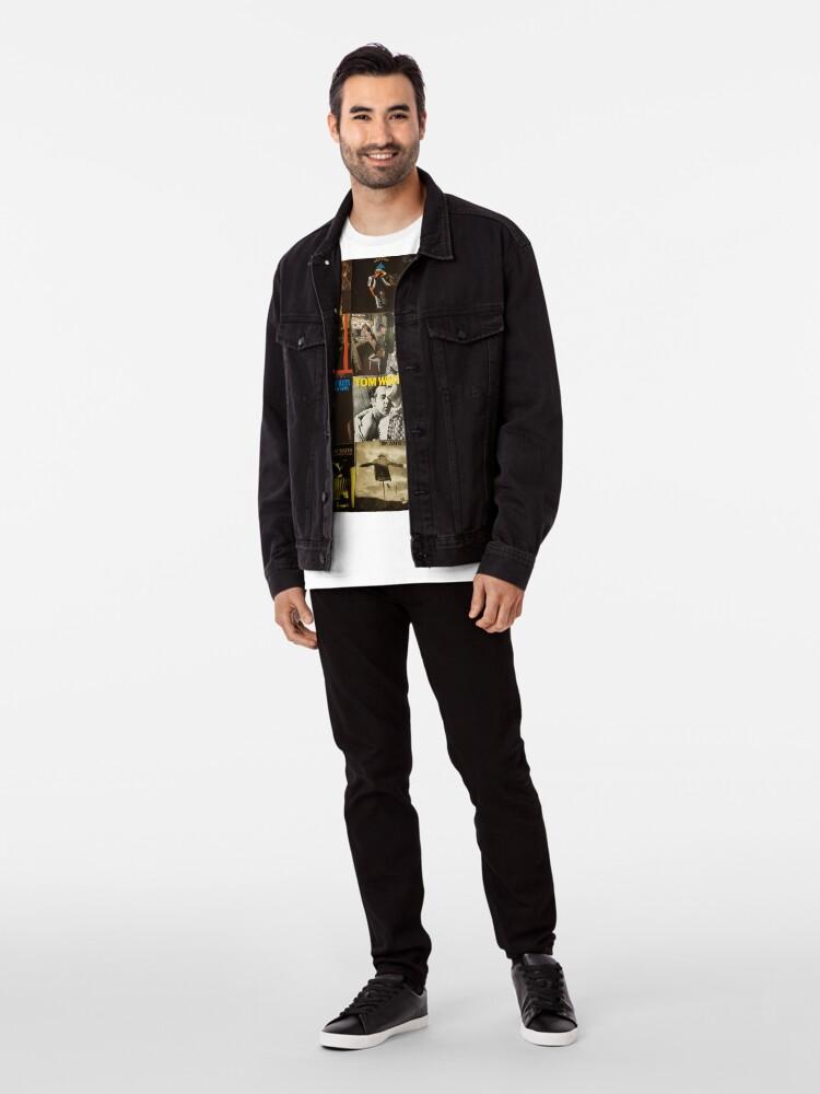 Alternative Ansicht von Tom Waits Discographie-Collage Premium T-Shirt