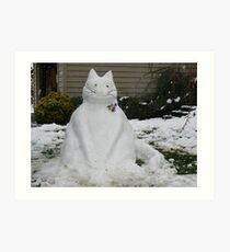 A SNOW CAT FOR YOU  Art Print