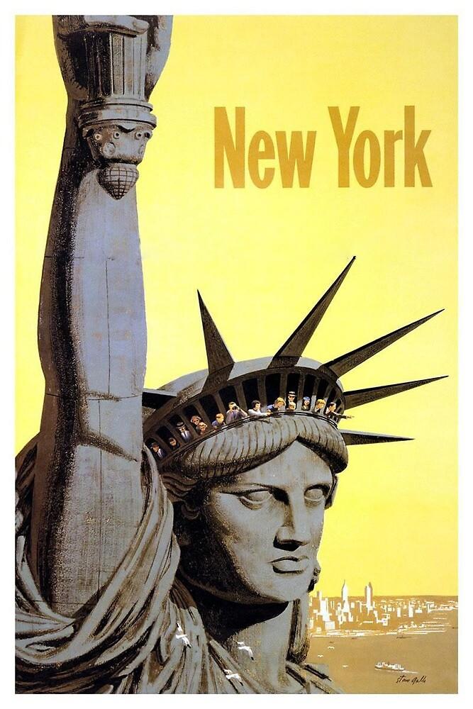 Vintage Liberty New York print by jemetzca