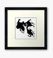 Stag and Dementor Framed Print