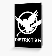 Bezirk 9 3/4 Grußkarte