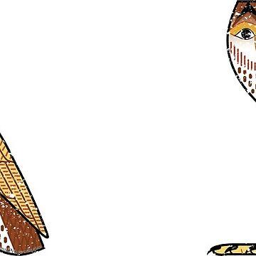 Ancient Egyptian Owl - M Hieroglyph Mug on Stone by PyramidPrintWrx