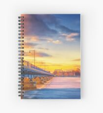 Golden Bridge to MIT Spiral Notebook