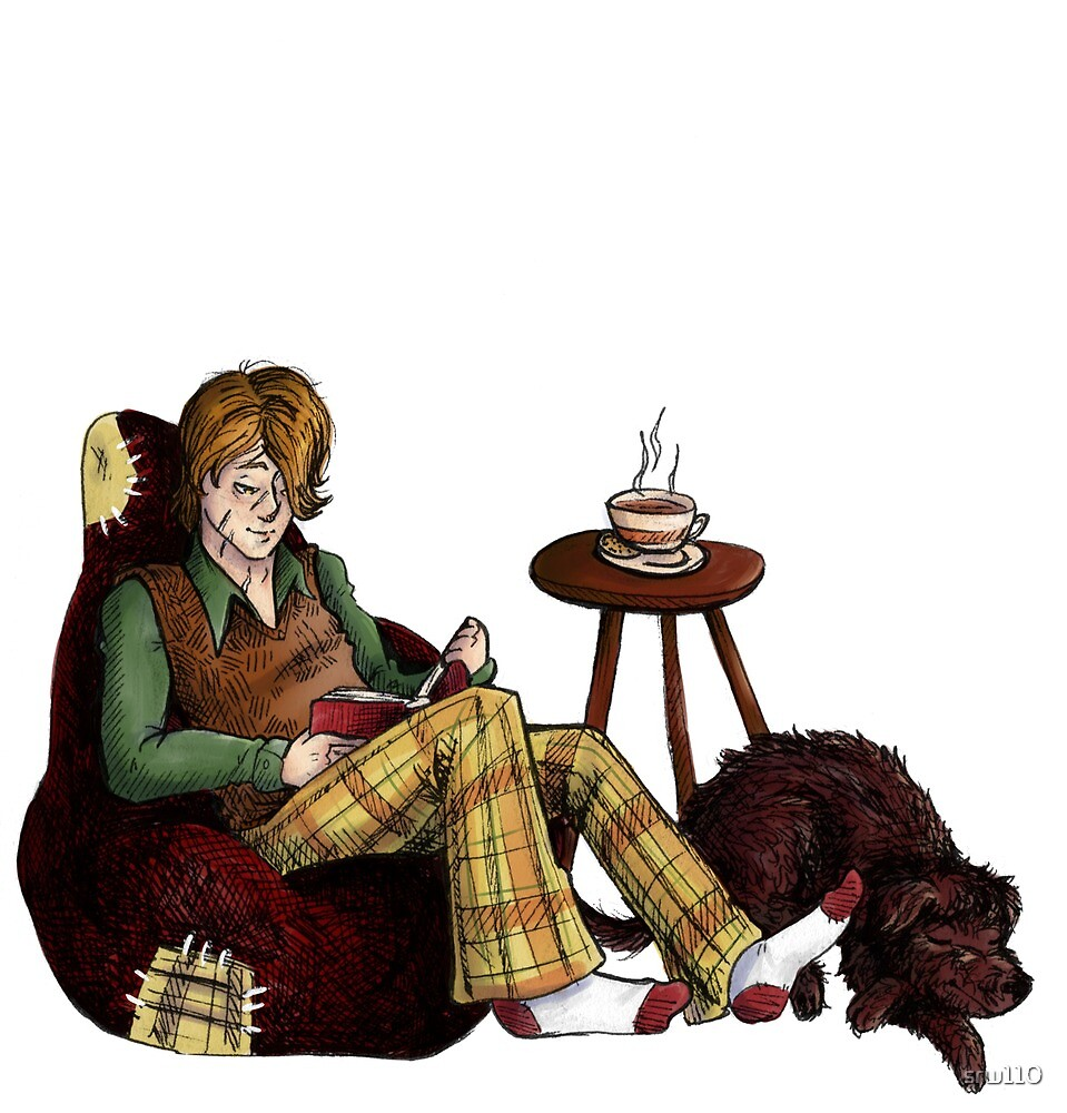 Remus, Tea, Black Dog, Colour by srw110