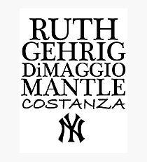 Costanza - Yankees Photographic Print