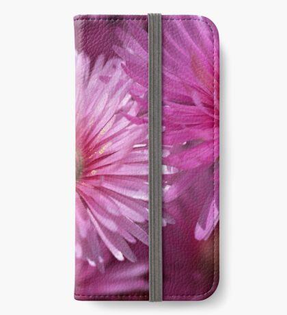 Pink Pigface Flowers iPhone Wallet