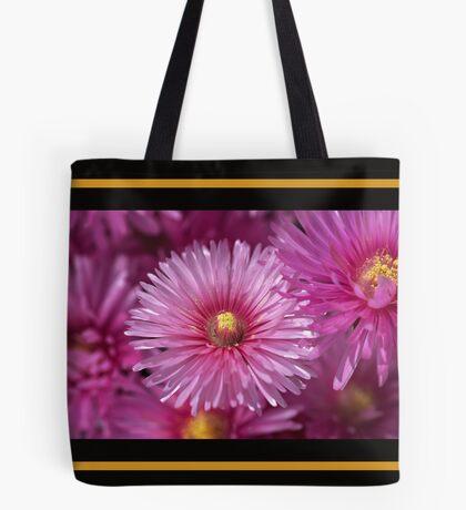 Pink Pigface Flowers Tote Bag
