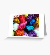 Colors of yarn Greeting Card