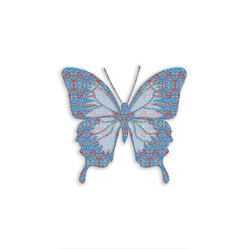 Deep Style Digital Pattern and Butterfly 06 by Diego-t