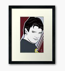 Nathan Fillion is Captain Hammer Framed Print