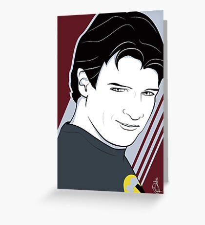 Nathan Fillion is Captain Hammer Greeting Card